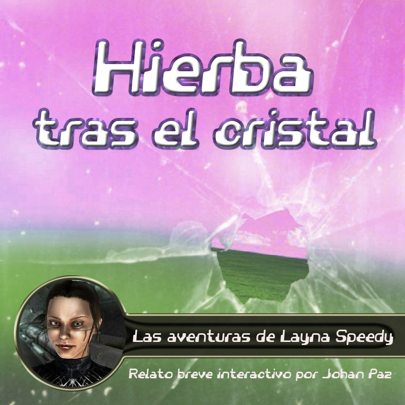 Hierba tras el cristal